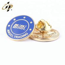 Pérola personalizada do nome do pino do esmalte do ouro da promoção emblema do botão do metal