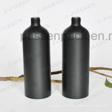 500ml Mattschwarz Kosmetik Aluminium Flasche für Duft Parfüm (sandgestrahlt)