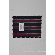 Dandy tela de lana de mezcla de cachemira mongol rojo azul raya