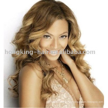 Wholesale 100% indian remy human hair full lace wigs, silk top lace wig