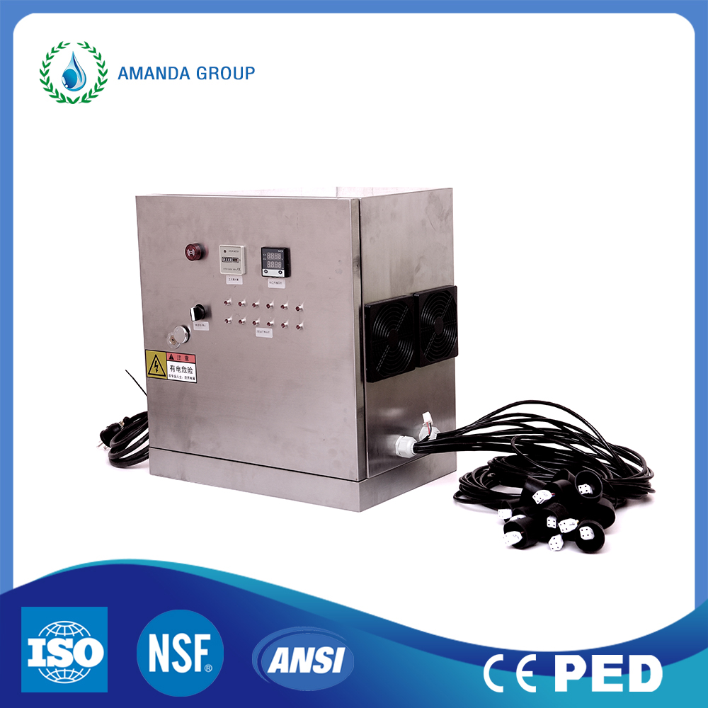Automatic Cleaning Unit With Industrial UV Water Filter