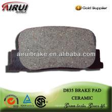 Plaquette de frein D835 haute qualité