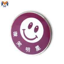 Smile logo pin button badge with butterfly clasp
