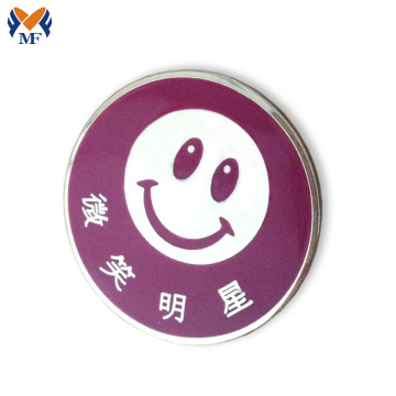 Smile logo pin badge button com fecho de borboleta
