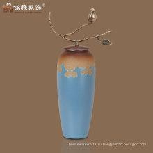 оптовая хорошее качество европейский стиль фарфора ваза с латунной ручки