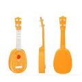 niños instrumentos musicales madera fruta guitarra
