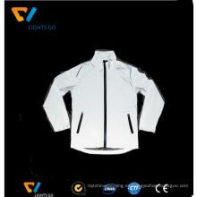 color gris de alta visibilidad ciclismo deportes ropa reflexiva ciclismo chaqueta