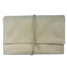 Trifold cotton fabric wallet Linen hangbag England style
