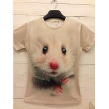 T-shirt unisex da impressão da sublimação do decote d