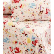 Children Flannel Bedding Set: Cartoon Blanket and Pillowcase