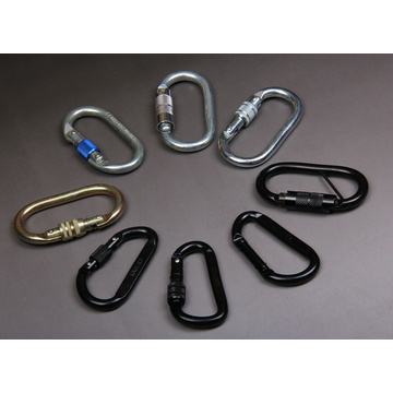 Черный цвет Dee Shape Strong Carabiner with Screw Lock