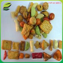 Biscoitos de amendoim revestidos com biscoito misturado com arroz da Coreia