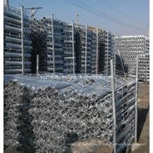 Pièce incorporée de Rebar galvanisée de DIP élevé, montage intégré, vis de Rebar Ground