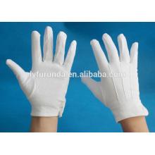 FURUNDA weiße Baumwoll-Militär-Handschuh-Inspektion führte Handschuhe
