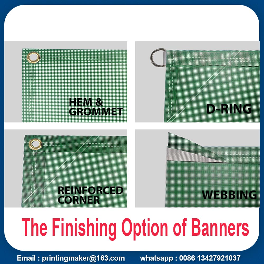 finishing of banners