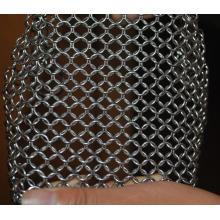 304/316 aço inoxidável purificador de ferro fundido chainmail scrubber