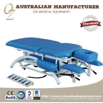Tablas de examen médico duradero Precio de fábrica eléctrico de la tabla del tratamiento del fabricante de la cama de la terapia física