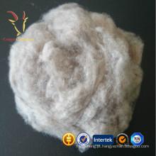 Tops de fibra de lã em caxemira cru