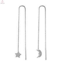 Pendientes personalizados de plata 925 de la joyería de China Cz
