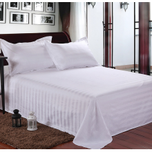 Poly/Cotton60/40 250TC White Color Bed Sheet Set