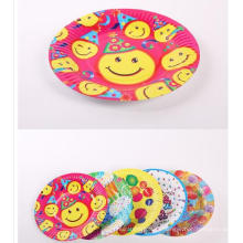 kids Lovely Disposable oval Round Paper Plates For Party