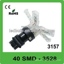40 pcs 3528 SMD 3157 base DC12V conduziu a luz para o carro