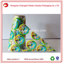 China supplier heat sealing logo printed PP labels for plastic cups