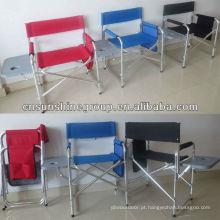 Metal frame dobrável cadeira diretor, cadeira dobrável de ferro