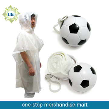 PVC disposable Football raincoat