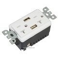 BAS20-2USB ULand CUL listed receptacle with USB