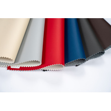 Cuero de tela de tapicería de PU suave ecológico