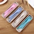 wheat straw spoon fork knife set plastic cutlery