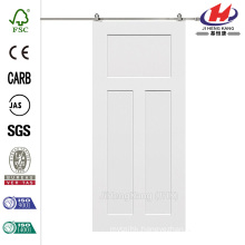 32 in. x 80 in. Craftsman Smooth Composite Barn Door with Sliding Door Hardware Kit