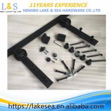 6.6 FT Black Carbon Steel Slide Schiebe Barn Door Hardware