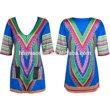 2017 femmes New Print robe à la mode longue robe