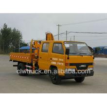 Gute Qualität JMC 4X2 LKW Kran, zweireihiger Kabinenwagen LKW