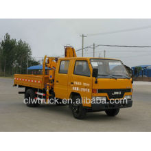 Good Quality JMC 4X2 Truck Crane, double row cab crane truck