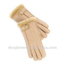 double face sheepskin fur gloves