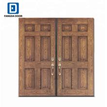 diseños de puerta de madera de puerta de panel de fibra de vidrio