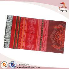 Clásico Mujer Bufanda Chal Jacquard Textil Árabe
