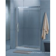 Ванная Закаленное стекло Раздвижные душ экран (H001)