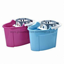 Plastic Floor-cleaning Pail, Can Prevent Mop Head from Dropping Water Before Mopping, 15.8 Liters