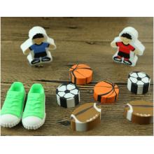 Nouveauté chaussures de football 3D colorées en forme de gomme