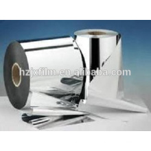 High barrier PET film silver coated