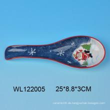 Weihnachtskeramik Löffel Rest mit Santa Design für Küche decro