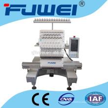 FUWEI Cabeza del bordado de la máquina del bordado de la sola cabeza del precio y camiseta una máquina principal del bordado una cabeza