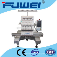 FUWEI Single head embroidery machine price cap and t-shirt one head embroidery machine one head