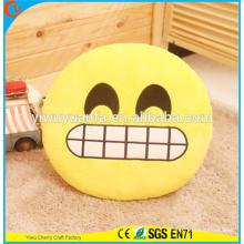 Hot Selling Novelty Design Funny Emoji Emotican Pillow com Expressão Facial