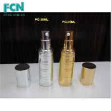 Gold customized petg cosmetic airless pump bottle 15ml 20ml 30ml 50ml