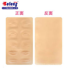 Solong Haute Qualité 3D Silicone Sourcils / Lip pratique peau pour tatoueur débutant en gros tatouage pratique peau
